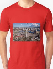 Thames Cable Car over London's Docklands Unisex T-Shirt