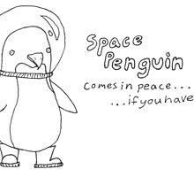 space penguin by creepalicious