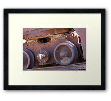 Wheels on an old coal mining cart  Framed Print
