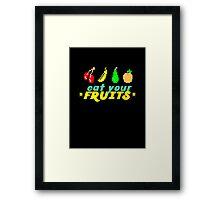 Eat Your Fruits Framed Print