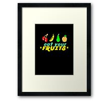 Eat Your Fruits Framed Print