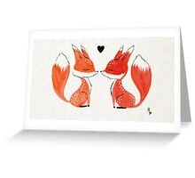 Fox Love Greeting Card