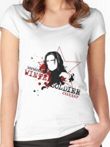 Zimnii Soldat Women's Fitted Scoop T-Shirt