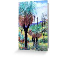 Grass Trees Canungra Greeting Card