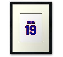 Basketball player Odie Spears jersey 19 Framed Print