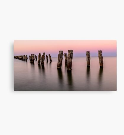 Peir in pink light Canvas Print