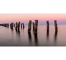 Peir in pink light Photographic Print