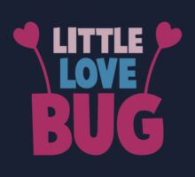 Little love bug with cute little antennae matching big love bug Kids Tee