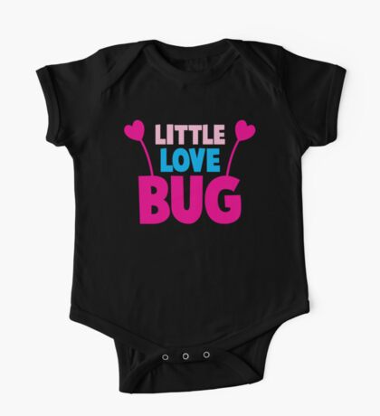 Little love bug with cute little antennae matching big love bug One Piece - Short Sleeve