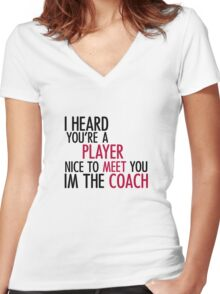 Player - T Women's Fitted V-Neck T-Shirt