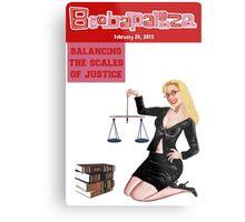 Boobapalooza: Balancing the Scales of Justice Metal Print