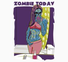 Zombie Today  Kids Tee