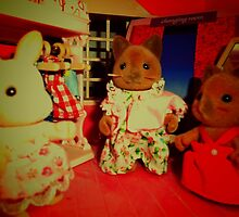 Sylvanian Families ~ Cats & Rabbit  by Forever Feline