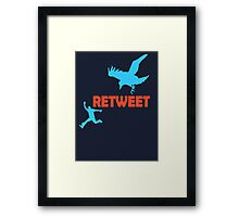 Classic Retweet Framed Print