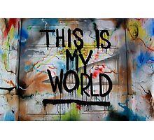 MSA #16 - This is my World Photographic Print
