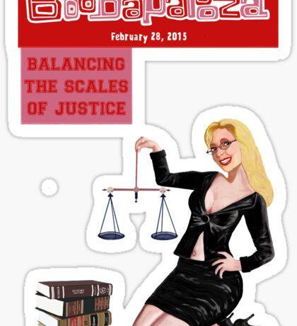 Boobapalooza: Balancing the Scales of Justice Sticker