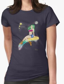 Sweet girl fly color t-shirt Womens Fitted T-Shirt