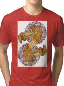 Double Dodo - coffee and ink - Tri-blend T-Shirt