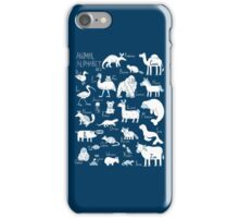 Animal Alphabet #2 iPhone Case/Skin
