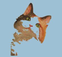 I'm All Ears - Cute Calico Cat Portrait Kids Clothes