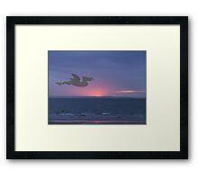 Dragon over Conwy estuary Framed Print