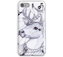 deer in dress code  iPhone Case/Skin