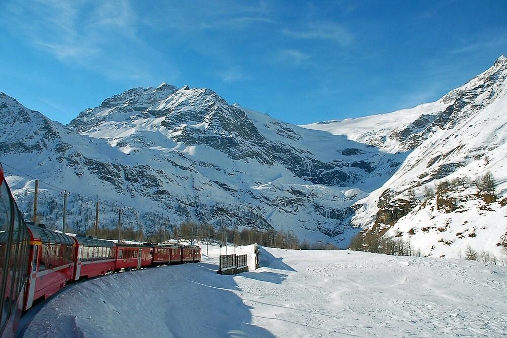 Bernina-Express by Arie Koene