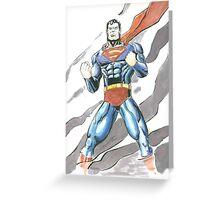 Superman Watercolor Greeting Card