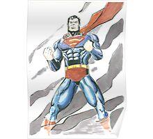 Superman Watercolor Poster