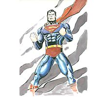 Superman Watercolor Photographic Print
