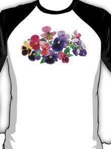 Pastel Pansies T-Shirt