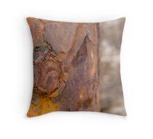 rusty bolt Throw Pillow