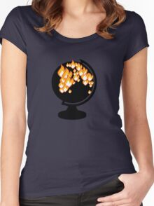 We burned it. Women's Fitted Scoop T-Shirt