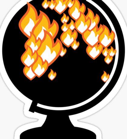 We burned it. Sticker