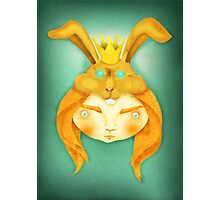 Diana & King Rabbit Photographic Print