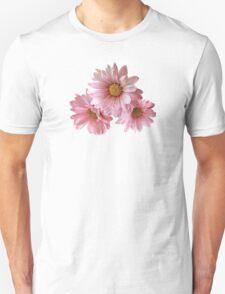 Three Pink Daisies Unisex T-Shirt