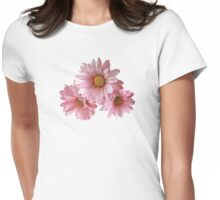 Three Pink Daisies Womens Fitted T-Shirt