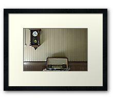 Radio time Framed Print