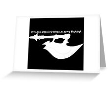 Scythe - Buffy - Julienne Preacher White Greeting Card