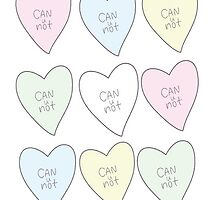 """""""Can u not"""" love-heart design.  by paigedmw"""