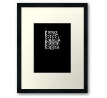 Smiths Lyrics - I was bored - size 2 Framed Print