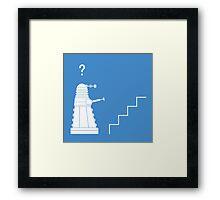 The problem with Daleks Framed Print