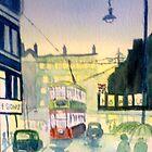 Rainy night in Salford by GEORGE SANDERSON
