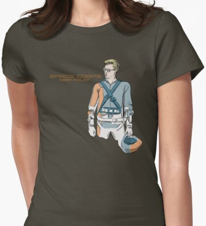 SPACECORPS:TESTPILOT Womens Fitted T-Shirt