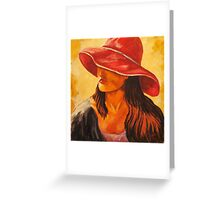 """Red Hat Society"" Greeting Card"