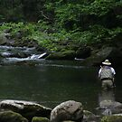 flyfishing in the rain by Christopher  Ewing