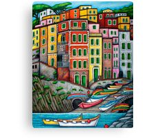 Colours of Riomaggiore, Cinque Terre Canvas Print