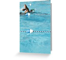 The Swimmer Greeting Card