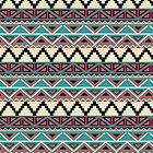 Turquoise and Coral Southwestern Pattern by LABELSTONE