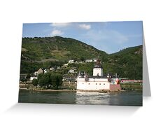 Burg Pfalz Greeting Card